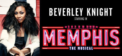 Beverley Knight to star in Memphis The Musical from October 2014