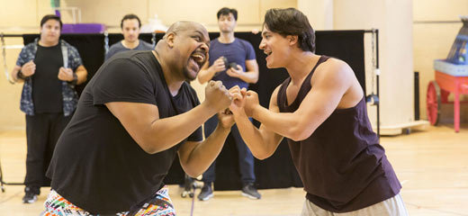 PHOTOS: Behind the scenes in Disney's Aladdin rehearsals