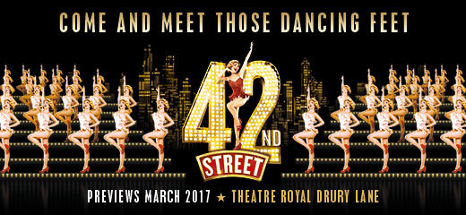 42nd Street will return to London's Drury Lane in March 2017