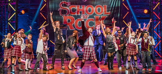 Four & five stars for London's School of Rock the Musical