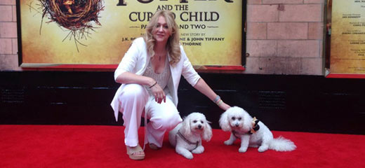 West End Stars & their pets: Sonia Friedman with Teddy and Buddy