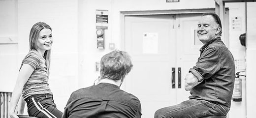 PHOTOS: Behind the scenes at the rehearsals for Pinter 4