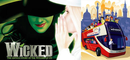 Wicked + FREE London Bus Tour