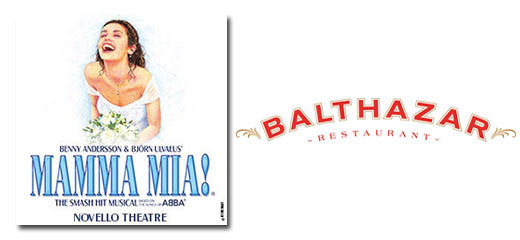 Mamma Mia! + 2 Course Pre-Theatre Dinner at Balthazar