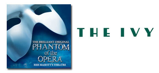 The Phantom Of The Opera + 2 Course Post-Theatre Dinner at The Ivy