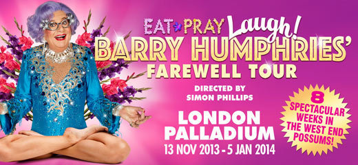 Eat, Pray, Laugh! Barry Humphries' Farewell Tour