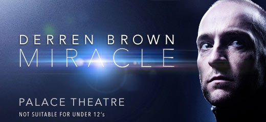 Derren Brown Miracle 2 Course Meal Amp Glass Of Wine At
