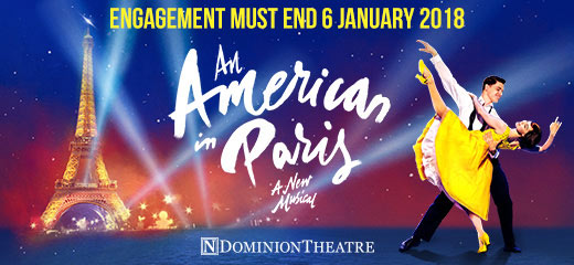 An American In Paris + FREE 2 Course Dinner
