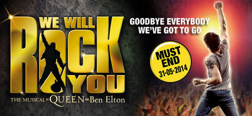 We Will Rock You + FREE 2 Course Dinner
