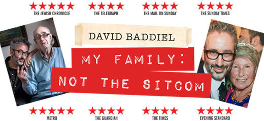 David Baddiel is moving to the Playhouse Theatre in Spring 2017.
