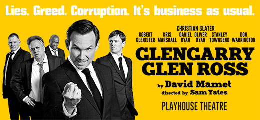 Christian Slater to star in Glengarry Glen Ross at London's Playhouse Theatre