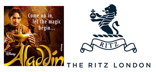 Aladdin + 3 Course Dinner & Glass of Champagne at The Ritz