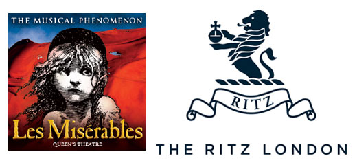 Les Misérables + 3 Course Dinner & Glass of Champagne at The Ritz