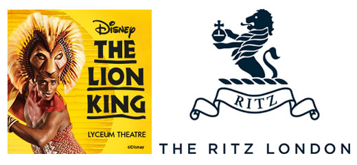 The Lion King + 3 Course Dinner & Glass of Champagne at The Ritz