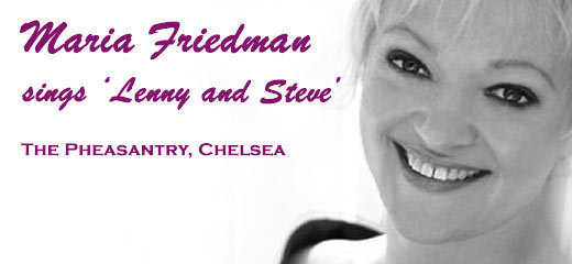 Maria Friedman sings 'Lenny and Steve'