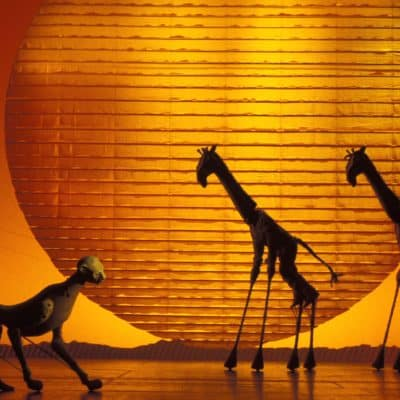 Production artwork for Lion King featuring cheetahs